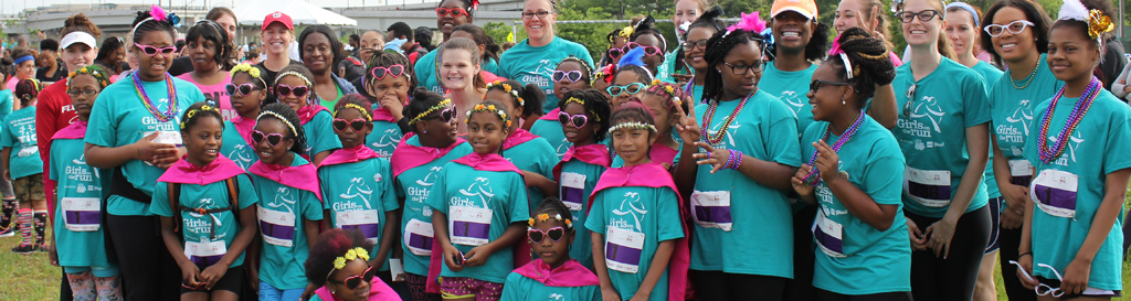 Cheering and Supporting Girls on the Run